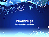 PowerPoint Template - floral blue abstract background