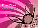 PowerPoint Template - Trendy banner design with copy space in circle.
