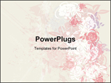 PowerPoint Template - A Background Design Containing Foliage and Grunge Elements