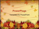 PowerPoint Template - colorful fall flowers for Halloween
