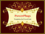 PowerPoint Template - classical wine labels in the vector format