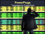 PowerPoint Template - desperately traders looking big stock quote monitor