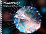 PowerPoint Template - a diamond sparkles in colorful lights