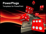 PowerPoint Template - 3d rendered illustration of some falling dice and a money bundle