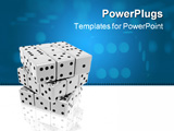 PowerPoint Template - chrome dices (3D image see more in portfolio)
