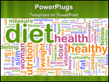 PowerPoint Template - Word cloud concept illustration of healthy diet
