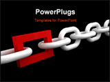 PowerPoint Template - fine 3d image of white chain and different red ring