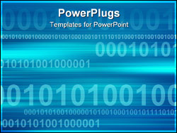 PowerPoint Template - Blue business background with numbers. Dynamic illustration