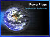 PowerPoint Template - digital earth background