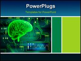 PowerPoint Template - An human brain as a central processing unit. Digital illustration.