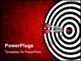 PowerPoint Template - direct hit with two darts symbolic of success