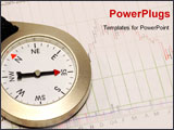PowerPoint Template - Compass and a Stock Chart