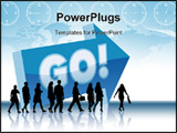 PowerPoint Template - People are going to a direction - Go.