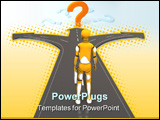 PowerPoint Template - crash test dummy thinking where to go