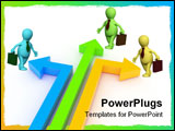 PowerPoint Template - 3d rendered image. Concept: competition business ... Arrows on a white background.