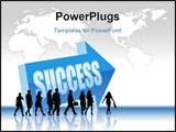 PowerPoint Template - People are going to a direction - Success.