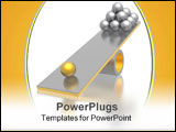 PowerPoint Template - disbalance (high resolution 3D image see more)