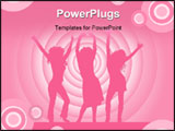 PowerPoint Template - sexy females dancing