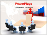 PowerPoint Template - a 3 image of man in business meeting
