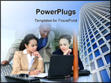PowerPoint Template - A diverse business group or team with several nationalities