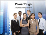 PowerPoint Template - a group of diverse individuals make up a happy business team