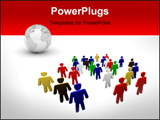 PowerPoint Template - diversity and teamwork. people of different race. different people concept