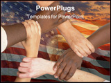 PowerPoint Template - Multiracial hands holding each other in unity