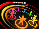 PowerPoint Template - A collection of colourful people in circles.