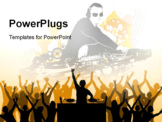 PowerPoint Template - Dj playing music n crowd cheering