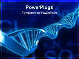 PowerPoint Template - 3d rendered illustration of a dna model