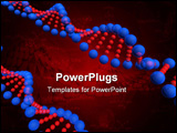 PowerPoint Template - 3d render of dna strand on a black background