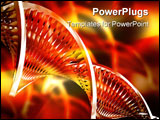 PowerPoint Template - 3d render of dna strands on abstract background