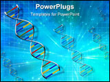 PowerPoint Template - DNA Strand in Abstract blue light burst background