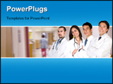 PowerPoint Template - Team of doctor and nurses