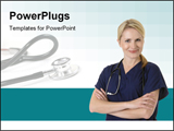 PowerPoint Template - cute smiling nurse