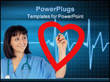PowerPoint Template - medical cardiologist drawing a heart