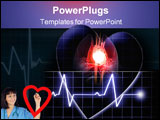 PowerPoint Template - Heart beat on a monitor on a dark background