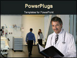 PowerPoint Template - view in an hospital on a male doctor