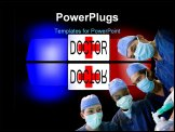 PowerPoint Template - Doctor ambulance speed car rescue urgency help