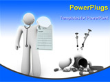 PowerPoint Template - A doctor holds a blank prescription - perfect for writing in your own copy