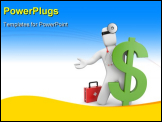 PowerPoint Template - 3d doctor with first aid and dollar