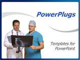 PowerPoint Template - Doctor and surgeon reviewing x-ray in white background