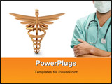 PowerPoint Template - male doctor on white background with medical icon