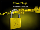 PowerPoint Template - chain of dollars locked up with padlock
