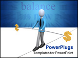 PowerPoint Template - Computer generated image - Dollar Balance .