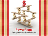 PowerPoint Template - Financial balance. Stable equilibrium. 3D image. Illustrations