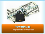 PowerPoint Template - dollars, chained and locked