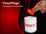 PowerPoint Template - Donation Box and Red Heart Concept of Care and Love