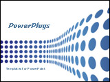 PowerPoint Template - Blue wavy dots on white background