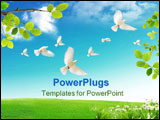 PowerPoint Template - Spring when the nature wakes up from the winter sleep